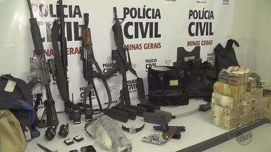 Quadrilha que explodia agências bancárias é presa no Sul de Minas - Quadrilha que explodia agências bancárias é presa no Sul de Minas