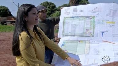 Rose Modesto faz campanha em campo de futebol de bairro em Campo Grande - Rose Modesto faz campanha em campo de futebol de bairro em Campo Grande