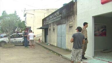 Bandidos atiram contra posto da PM e tentam assaltar banco em Bonança - Moradores ficaram assustados com os sons de tiros durante a madrugada.