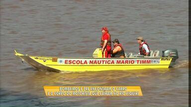 Carro e motorista que caíram no rio Piquiri são encontrados - As buscas começaram na quinta-feira.