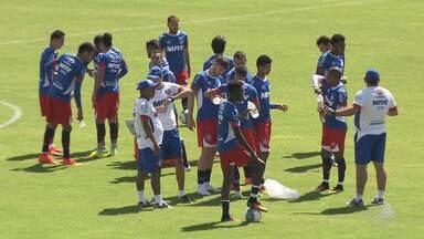 Bahia tem mudanças para jogo contra o Náutico neste sábado (10) - Times se enfrentam na Arena Pernambuco a partir das 16h30.
