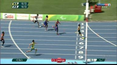 Paralimpíada: Petrúcio Ferreira vence bateria e está na semifinal dos 100m T47 - Paraibano bateu o recorde mundial da prova e é favorito ao ouro