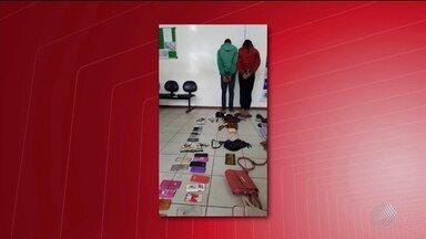 Casal acusado de praticar assaltos é preso em Vitória da Conquista - O casal foi localizado em fuga pela Polícia Militar.