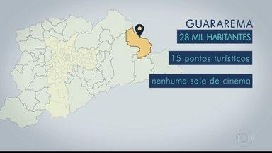 Guararema é a parada da viagem que o BDSP faz pelas cidades da Grande SP - A cidade, com 28 mil habitantes e 15 pontos de visitação, não tem nenhuma sala de cinema. A reportagem faz parte da série sobre eleições do BDSP, que percorreu 38 cidades da região metropolitana, exceto a capital.