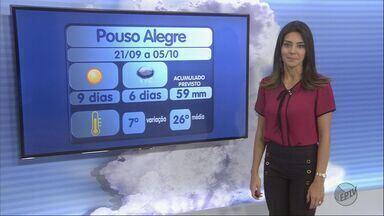 Confira a previsão do tempo para esta quinta-feira (22) no Sul de Minas - Confira a previsão do tempo para esta quinta-feira (22) no Sul de Minas