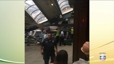 Trem bate contra plataforma em Nova Jersey, Estados Unidos - Mais de 100 pessoas ficaram feridas e uma morreu.
