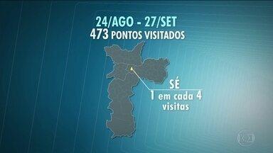 Confira os locais mais visitados pelos candidatos durante a campanha - O mapa dos candidatos mostra onde a atuação de cada um foi maior.