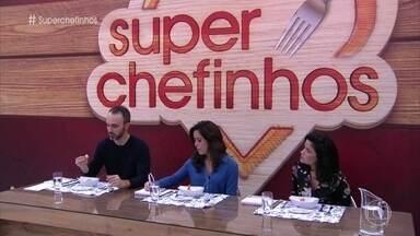 Confira as notas dos Super Chefinhos - Vanessa Giácomo, Leo Paixão e Paula Prandini avaliam os pratos das duplas Mari/Isabella e Biel/ Kíria