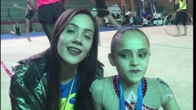 Ginasta de Cascavel conquista mais uma medalha de ouro na Colômbia - Ela participa o Sul-Americano. No fim de semana também tem futsal.