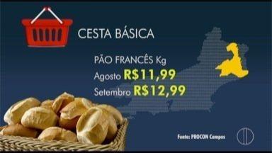 Cesta básica de setembro teve pequeno aumento em Campos, no RJ - Pesquisa do Procon apontou um aumento de 0,9%.