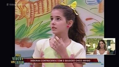 Veja Deborah Secco aos 12 anos na 'Escolinha do Professor Raimundo' - Atriz interpretou a irmã de Dona Capitu em um especial do dia das crianças
