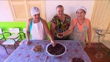 Castanha de baru é alimento típico do cerrado - A castanha de baru é típica do cerrado. Mas tem gente em Brasília que não conhece. O alimento deve ser consumido por quem tem colesterol alto, anemia e deficiência de zinco.