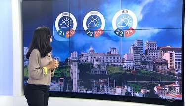 Previsão do tempo: quarta (19) deve ser de céu nublado e sol em Salvador - Temperaturas devem variar entre 21º e 28º.