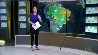 Previsão é de mais chuva em algumas áreas já afetadas do Rio Grande do Sul - Pelas imagens de satélite, é possível ver que as nuvens continuam carregadas. Uma área de baixa pressão funciona como uma máquina de produzir nuvens de tempestades.
