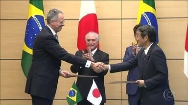 Presidente Michel Temer é recebido pelo imperador Akihito no Japão - Dilma causou mal-estar diplomático ao cancelar duas viagens ao país. Temer apresentou oportunidades de parcerias em portos e estradas.