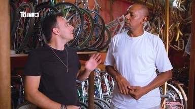 Mário conhece colecionador de bicicletas em Uberlândia - Ele participou do Tô Indo de sábado, 22 de outubro