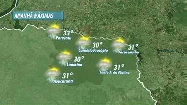 Veja a previsão do tempo para os próximos dias - O tempo continua instável, com possibilidade de chuva.