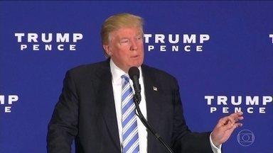 Na reta final, Trump engrossa o discurso e anuncia medidas drásticas - Se Donald Trump vencer a eleição presidencial, o discurso deste sábado (22) vai ter tido um papel fundamental. Entre os temas polêmicos, ele falou sobre expulsão de imigrantes e uso de energia suja.