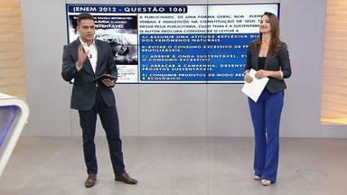 Enem 2016: ESTV 1ª edição faz desafio de português - Provas do Enem acontecem nos dias 5 e 6 de novembro.Questão caiu na edição de 2012 do exame.