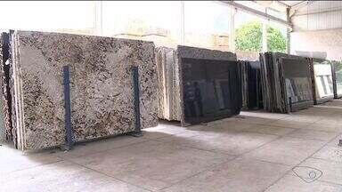 Exportações de rochas ornamentais cresce, mas não significa lucro para o setor - Em Cachoeiro de Itapemirim, o setor de rochas ornamentais representa 60% da economia da cidade.