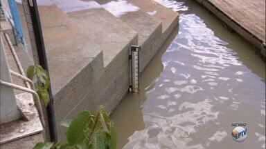 Após estiagens, chuvas recentes ajudam a elevar o nível do Rio Pardo - Em julho foi registrado o nível mais baixo do ano: 0,77 centímetros.