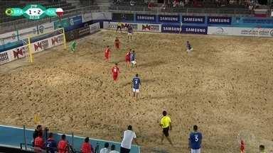 Brasil vence as duas primeiras na Copa Intercontinental de futebol de areia - Competição ocorre em Dubai.