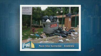 Morador denuncia interrupção da coleta de lixo em Analândia - Prefeitura afirma que caminhões quebraram e que trabalho deve ser retomado nesta quarta-feira.