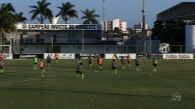 Jogadores admitem difculdade em acesso, mas vão lutar para Ceará subir - Vovô tem apenas 47 pontos e precisa ganhar todos os cinco jogos que ainda lhe restam para sonhar em subir de divisão.
