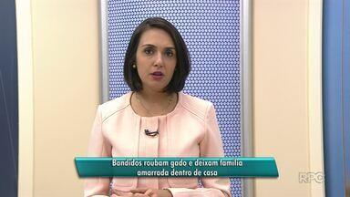 Bandidos roubam gado em deixam família amarrada em Guarapuava - Caso aconteceu no Distrito de Entre Rios.