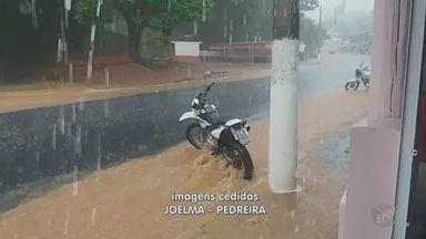 Chuva provoca alagamentos na Região de Campinas nesta quarta - Pedreira e Jaguariúna tiveram chuvas com granizo; Piracicaba ficou com ruas alagadas.
