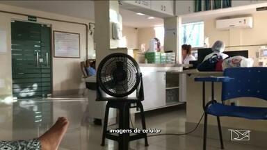 Pacientes reclamam das condições físicas de uma clínica em São Luís - A clínica particular que recebe dinheiro do Serviço Único de Saúde (SUS). Para aguentar as sessões tem gente levando até ventilados de casa.