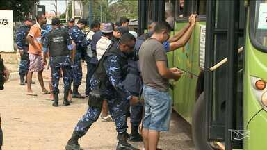 Operação da Guarda Municipal quer diminuir assaltos na Região Metropolitana de São Luís - Nesta quinta-feira (10), a fiscalização foi na MA-201, a Estrada de Ribamar onde há grande incidência de assaltos a ônibus e vans, segundo a polícia.