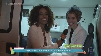 Alinne Prado acompanha bastidores de acidente de Rock Story - Julia, personagem de Nathalia Dill, escapa da morte