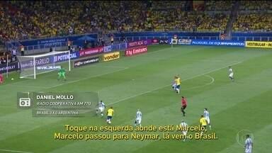 Confira a narração de Daniel Mollo na derrota da Argentina para o Brasil - Confira a narração de Daniel Mollo na derrota da Argentina para o Brasil
