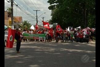Trabalhadores do MST protestam em Belém contra PEC que limita os gastos públicos - Protesto foi realizado na manhã desta sexta-feira (11).