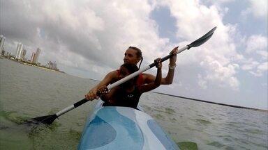 Italiana monta projeto social para ensinar canoagem em Pernambuco - Graziana é professora e ensina esporte para crianças de comunidades de Olinda