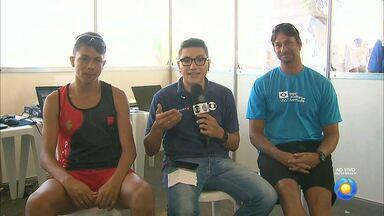 Matheus Aguiar conquista o primeiro ouro para a Paraíba nos Jogos Escolares da Juventude - Atleta vence prova dos 800 metros rasos, participa ao vivo do Globo Esporte e ouve conselhos do campeão olímpico Ricardo