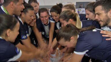 Futsal feminino de MT se garante na final e sobe para a 2ª Divisão do JUBs - Futsal feminino de MT se garante na final e sobe para a 2ª Divisão do JUBs