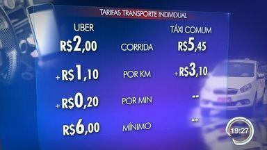 Serviço de transporte Uber começa a operar em São José - Aplicativo lançou nesta sexta-feira as atividades no município, primeiro da região a contar com o serviço