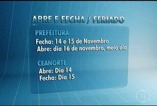 Veja o que funciona durante o feriado da Proclamação da República - Prefeitura de Montes Claros fica fechada na segunda e terça-feira.