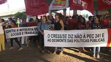 Categorias fazem ato em Aracaju contra a PEC 241 - Encontro aconteceu no Distrito Industrial de Sergipe.