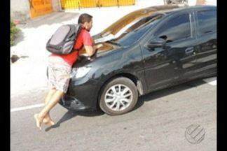 Estudante foi atropelado durante protesto em Belém - Estudante participava de protesto.