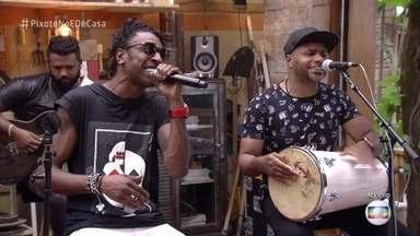Pixote anima o É de Casa com o sucesso 'Insegurança' - Os apresentadores caem no samba