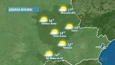 Sábado amanhece com temperaturas amenas, nos Campos Gerais - Mínimas variam de 13 a 17 graus.