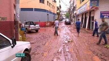 Chuva forte causa estragos e prejuízos no Sul do Espírito Santo - Em Cachoeiro, dez famílias ficaram desabrigadas.