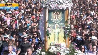 No RS, mais de 400 mil participam de romaria de Nossa Senhora Medianeira - Romaria realizada em Santa Maria é a maior do Rio Grande do Sul.