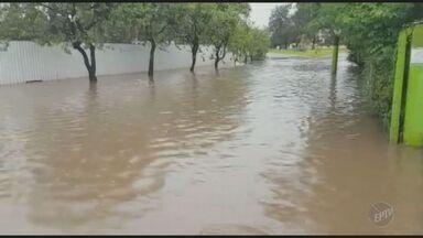 Moradores reclamam de rua alagada pela chuva em Valinhos - A situação acontece na rua Ortizes. Segundo os moradores, toda vez que chove parte da rua fica alagada por vários dias.