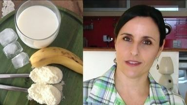 Aprenda a fazer uma receita de vitamina com bastante proteína do leite - O lanche da tarde precisa ter uma proteína, porque ela sacia por mais horas. Assim, o jantar também é menor e engorda menor.