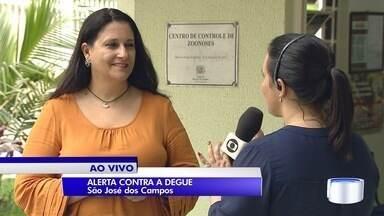 Mais de 12 mil possíveis criadouros da dengue são encontrados em São José - Agentes reforçam vistorias na cidade nesta época do ano.