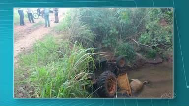 Agricultor morre após trator cair de ponte em Janiópolis - Desde domingo que ele estava desaparecido